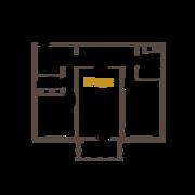 ЖК «Усадьба на Ланском», планировка 2-комнатной квартиры, 75.17 м²