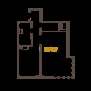 ЖК «Усадьба на Ланском», планировка 1-комнатной квартиры, 53.00 м²