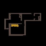 ЖК «Усадьба на Ланском», планировка 1-комнатной квартиры, 49.80 м²