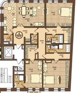 ЖК «Villa Grace», планировка 4-комнатной квартиры, 209.80 м²