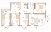 ЖК «Октавия», планировка 4-комнатной квартиры, 138.79 м²