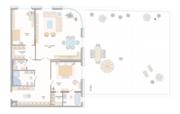 ЖК «Октавия», планировка 2-комнатной квартиры, 187.99 м²