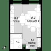 ЖК «Sydney City», планировка студии, 31.60 м²