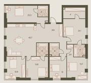ЖК «Eniteo», планировка 5-комнатной квартиры, 171.30 м²