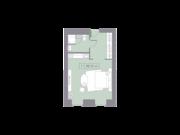 МФК «La Rue», планировка студии, 28.19 м²