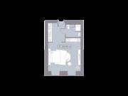 МФК «La Rue», планировка студии, 28.95 м²