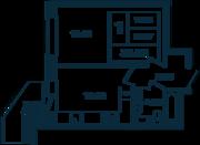 ЖК «Оазис», планировка 1-комнатной квартиры, 35.55 м²