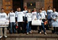 Обманутые дольщики ЖК «Воронцов» и «Вариант» пикетировали у здания ФСБ
