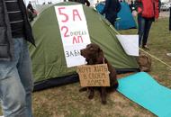 Дольщики ГК «Город»: палаточный лагерь у офиса застройщика был вынужденной мерой