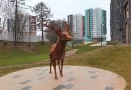 В ЖК «Скандинавия» появился трехметровый олень