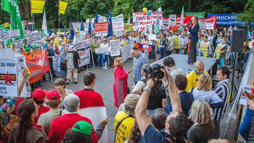 Во Всероссийском митинге обманутых дольщиков приняли участие 24 города