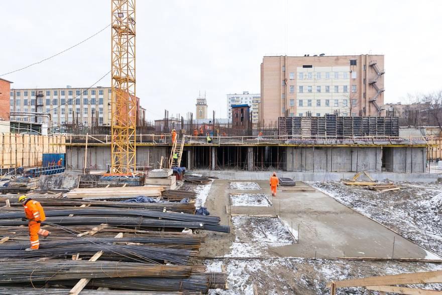 В ЖК «Петровский парк» начался монтаж фасадов