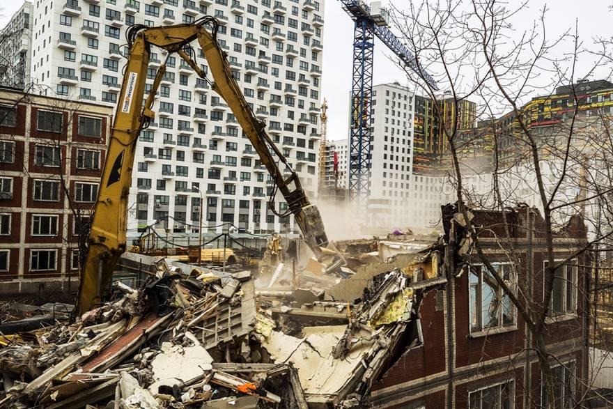 Снос московской пятиэтажки