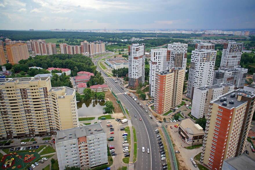 Застройка в Новомосковском округе Москвы
