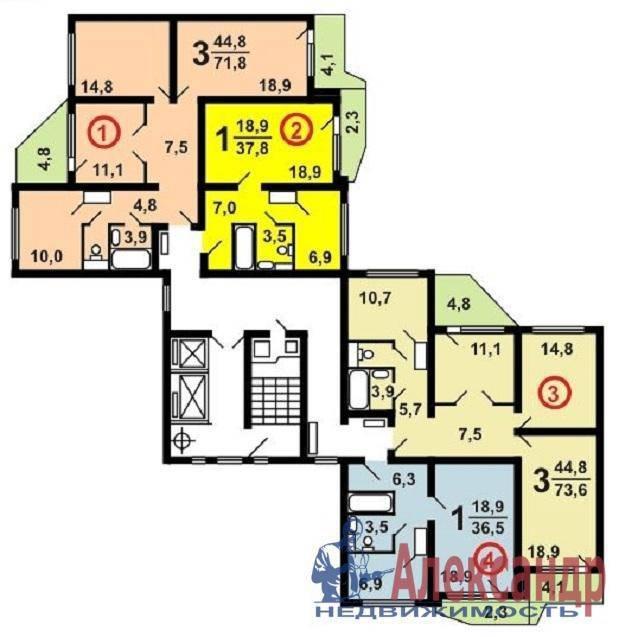 Типовые планировки. серия дома п-44т - компания инвестиции-н.