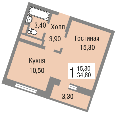 Жк павловский квартира 35 кв м